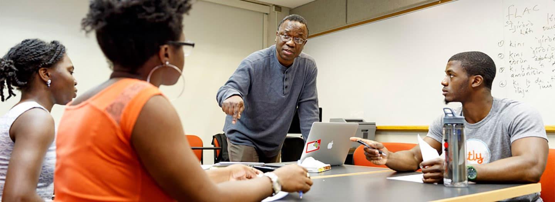 Adeolu Ademoyo, senior lecturer at the Africana Studies and Research Center, teaches Yoruba Foreign Language Across the Curriculum.
