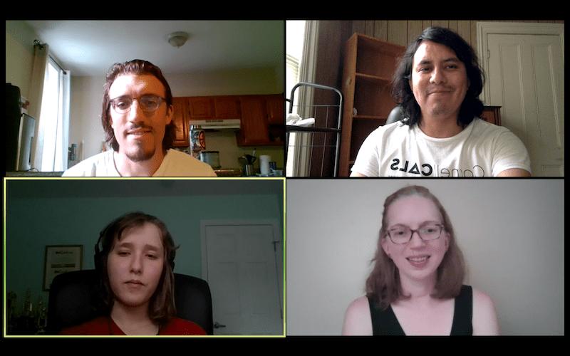 Screenshot of a Spanish Conversation Hour in summer 2020