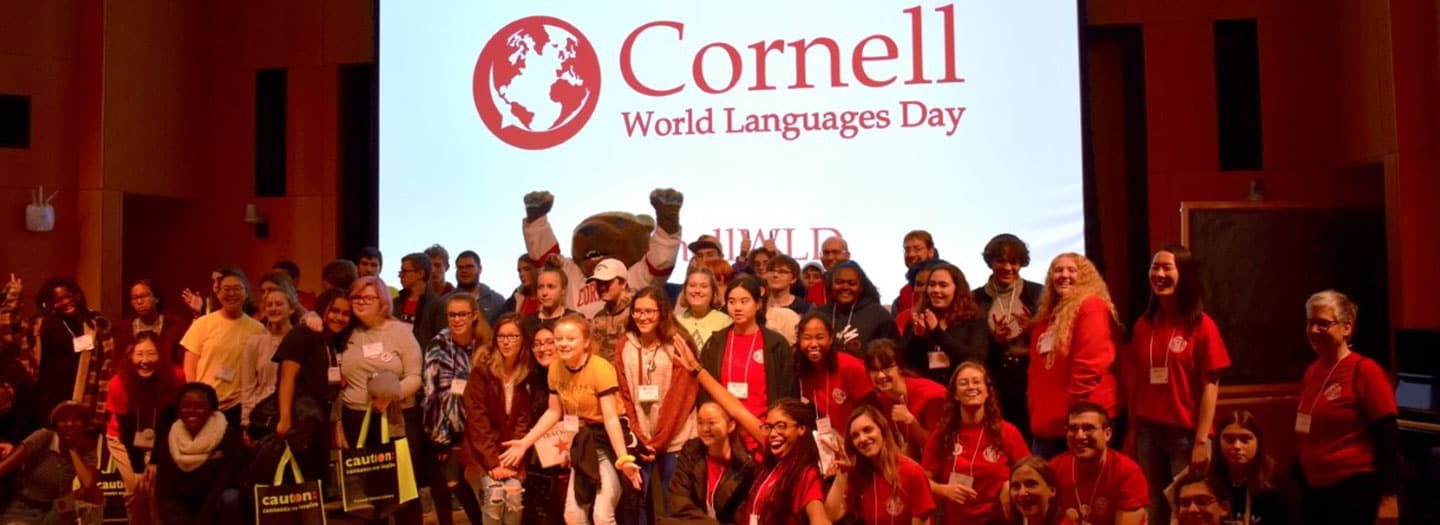 Group participating in World Languages Day